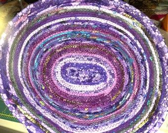 FRIENDS Oval Shaped Purple Coiled Clothesline Basket