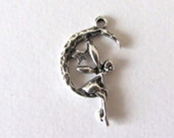Small fairy charm silver,fairy