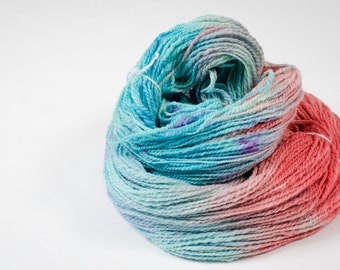 """438 Yards worsted weight - Hand Spun and Hand Dyed 100% Wool Yarn in """"Lainie"""" colorway"""