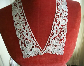 Venise lace antique cotton applique victorian