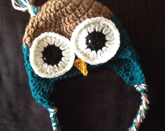 Hoot Owl Baby Hat