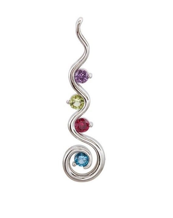 Mothers pendant birthstone pendant family jewelry family like this item aloadofball Image collections