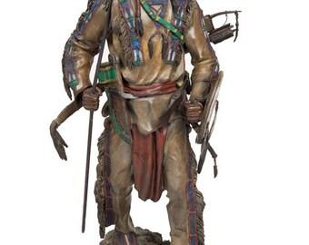 "Western Art, Bronze Sculpture titled  ""Silent Sentinel"" 20/75 By James Regimbal, #1176"