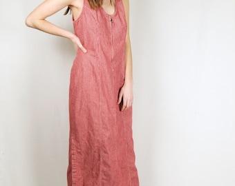 Red Pinstripe Dress
