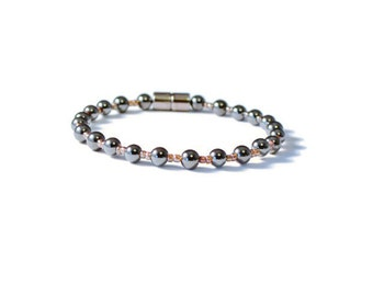 Magnetic Hematite Therapy Bracelet, Pain Relief, Ankle Bracelet