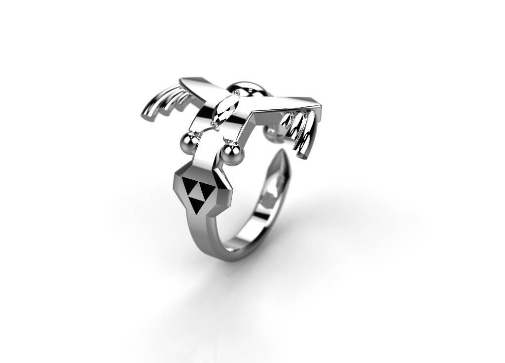 Master Sword Ring Zelda Inspired Triforce Wedding Band