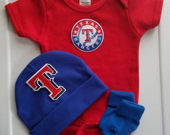 Texas rangers baby outfit/baby texas rangers/newborn texas rangers/rangers newborn/Texas rangers baby shower gift/texas rangers for baby