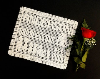 Family Personalized Doily Crochet Pattern #701 - Personalized Name Doily Crochet Pattern - Instant Download PDF