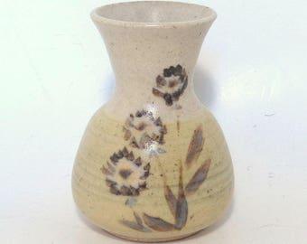 Vintage Hand Thrown Stoneware Bud Vase