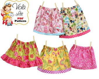 Toddler Skirt Pattern, Quick Simple Girls Skirt Pattern. Toddler Sewing Pattern, pdf, 3 Skirt Styles. Infant Skirt pdf Pattern. Alana