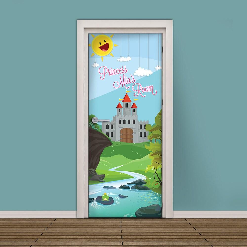 ?zoom  sc 1 st  Etsy & Kids Door Sticker Customizable Vinyl Wallpaper Adhesive