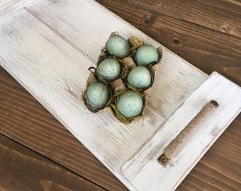 Wood Breakfast Tray, Serving Tray, Coffee Table Tray,  Farmhouse Decor