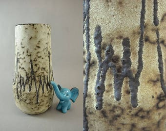 Vintage vase made by Scheurich / 529 25 / Fat Lava | West German Pottery | 60s
