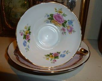 Lovely Vintage Royal Stafford Bone China Teacup And Saucer From England 1960's