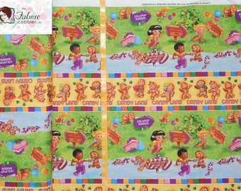 Quilting Treasures - Candyland Gingerbread Stripe - Game Original Artwork -By the yard - Choose your cut of fabric