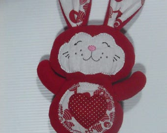 THE TOY RED AND WHITE COTTON AND FLEECE