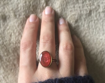 Handpainted adjustable ring