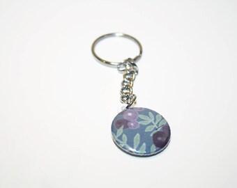 Porté clés 25mm Liberty Wilshire violet japonais ** EDITION LIMITEE **