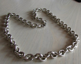 "Heavy Sterling Silver Chain 19 1/2"" long"