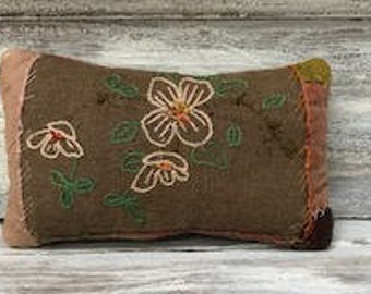 Wonderful Crazy Quilt Pillow-Beautiful Embroidery