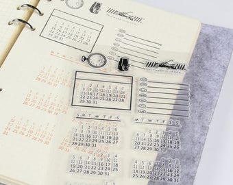 Calendar Clear Stamps