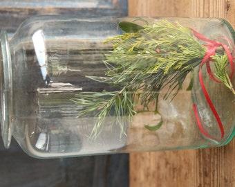 D 122 antique austrian mouthblown glass PICKLING JAR christmas gift , kitchen decoration