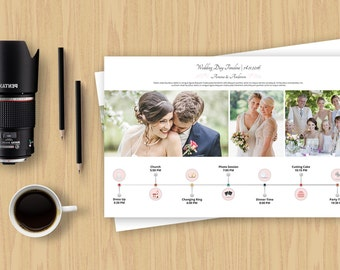Wedding Day Timeline Template For Photographer | Wedding Day Schedule Template | Instant Download