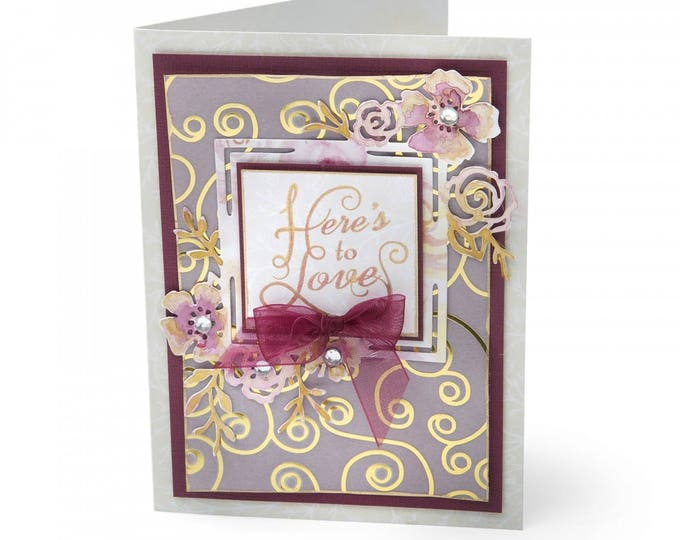Sizzix Thinlits Die - Floral Label by David Tutera 661896