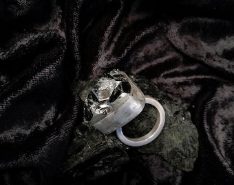 Betelgeuse Pyrite Sterling Silver Ring