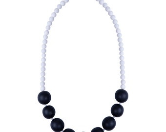 Black and White modern necklace