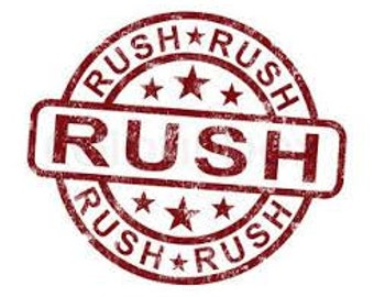 Rush Processing DECALS ONLY