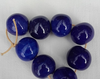 ceramic blue cobalt or dark beads