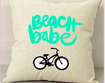 Beach Babe Pillow