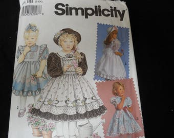 Simplicity 7699 Daisy Kingdom Dress and Pinafore Pattern Sizes 5-6X
