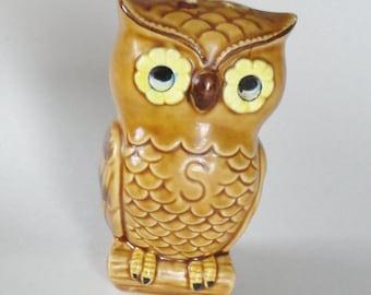 1 Vintage Owl Shelf Decor, Retro Mod Kitchen, Lefton Lego Shaker, Letter S, Country Cottage Cabin Shelf Decor, Woodland Forest Nursery Decor