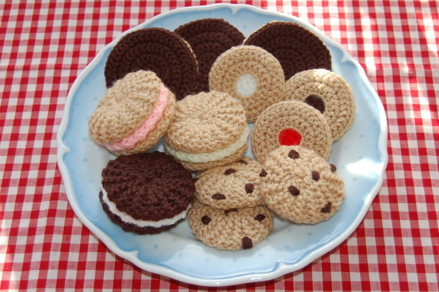 Knitting & Crochet Pattern for a Selection of Biscuits / Cookies ...