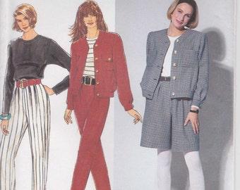 Pants Pattern Dress Shorts Jacket Misses Size 12 - 14 - 16 Uncut 1991 Simplicity 7575