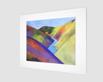 Wildflowers Fine Art Print | Hanging Wall Decor | Shelf Sitter & Office Decor