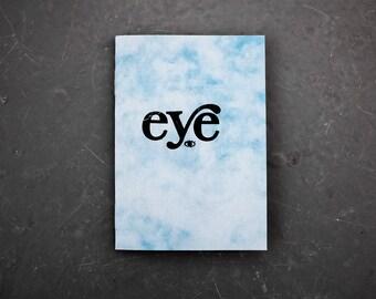 Eye - very tiny art zine, illustration A7 book.