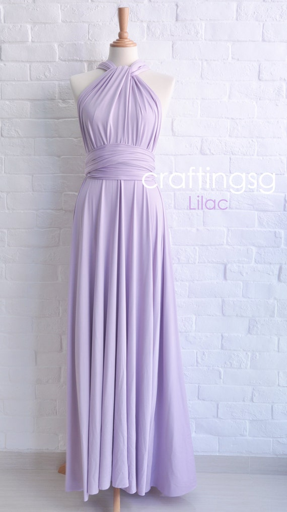Bridesmaid Dress Lilac Maxi Floor Length Infinity Dress Prom