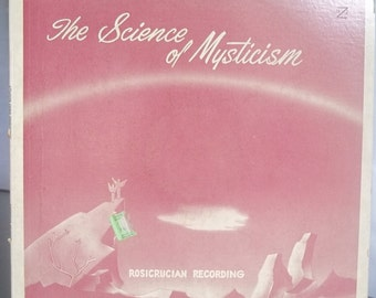 The Science of Mysticism, Ralph M. Lewis, Vintage Record Album, Vinyl LP, Rare and Obscure, Red Vinyl Record, Spoken Word Album, Rosicrucian