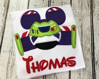 Disney inspired Buzz Lightyear  Embroidered T-shirt, Embroidered T-shirt