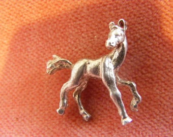 Vintage Sterling Silver Charm Foal young horse
