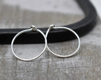 Small Sterling Silver Hoop Earrings - Sterling Silver Hoops - Gift for Her - Jewelry Sale