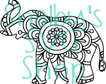 Elephant Mandala #2 - SVG