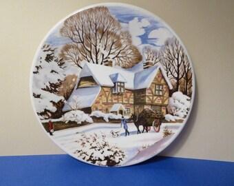 Washington Pottery, by: Staffordshire England, Cottage Winter Scene Decor