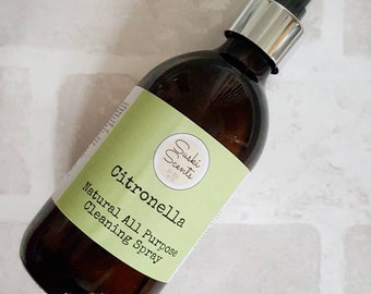 Vinegar cleaning spray, eco friendly cleaner, plastic free, Citronella cleaner, natural cleaning spray, cleaning fluid, essential oils