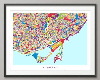 Toronto City Map, Ontario Canada, Art Print (1346)