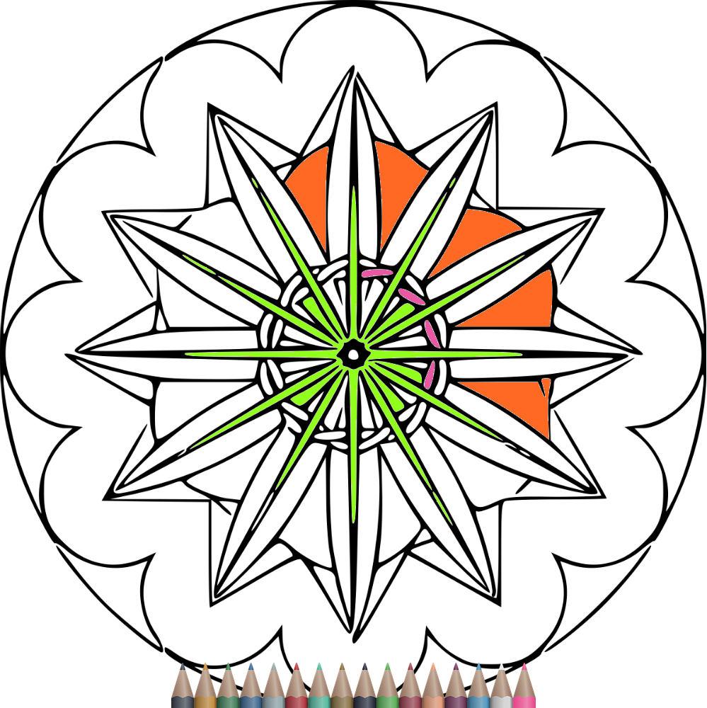 Páginas para colorear páginas para colorear de Mandala