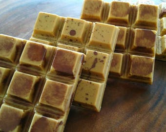 French Toast Candy Bar -- Caramelized White Chocolate, Homemade Maple Candy